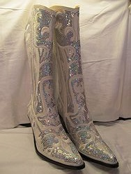HelensHeart - White Bling Boots Full Sequin