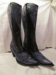 HelensHeart - Black/Blue Partial Bling Boots