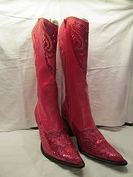 HelensHeart - Hot Pink Partial Bling Boots
