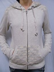 Miss Me JMJ165 - Ladies Knit  Zip Up Hoodie Jacket