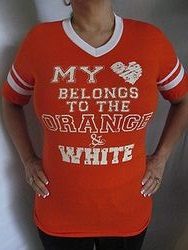 Pink Armadillo - My Heart Belongs To Orange & White Shirt
