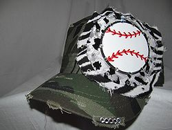 Custom Bling Hat - Baseball Camo Hat