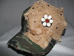 Custom Bling Hat - Camo Cadet With Burlap