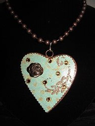 H-7 Custom Bling Necklaces - Custom Heart Necklace