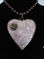 H-8 Custom Bling Necklaces - Custom Heart Necklace