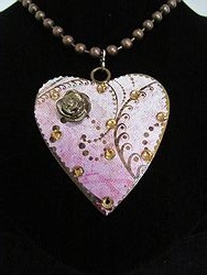 H-10 Custom Bling Necklaces - Custom Heart Necklace