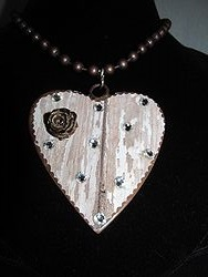 H-11 Custom Bling Necklaces - Custom Heart Necklace
