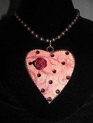 H-15 Custom Bling Necklaces - Custom Heart Necklace