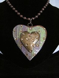 H-17 Custom Bling Necklaces - Custom Heart Necklace