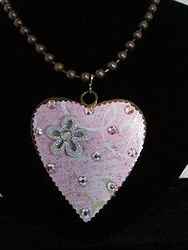 H-18 Custom Bling Necklaces - Custom Heart Necklace