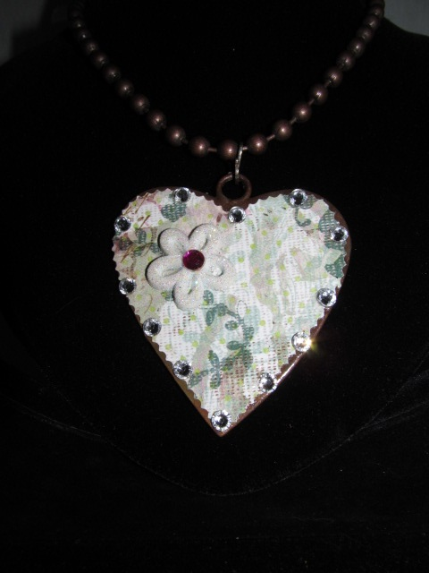 H-19 Custom Bling Necklaces - Custom Heart Necklace