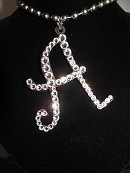 Initial A Custom Bling Necklaces - Custom Heart Necklace