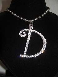 Initial D Custom Bling Necklaces - Custom Heart Necklace