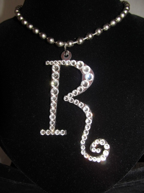 Initial R Custom Bling Necklaces - Custom Heart Necklace