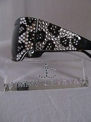 Jimmy Crystal GL943 - Snow Leopard  Bling Sunglasses