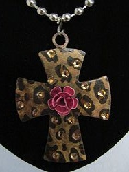 C-3 Custom Bling Necklaces - Custom Cross Necklace