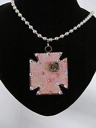 C-9 Custom Bling Necklaces - Custom Cross Necklace