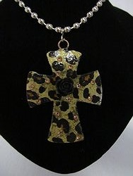 C-12  Custom Bling Necklaces - Custom Cross Necklace