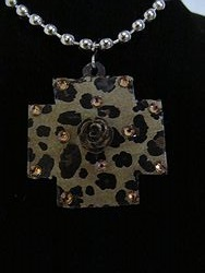 C-18 Custom Bling Necklaces - Custom Cross Necklace