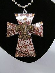 C-23 Custom Bling Necklaces - Custom Cross Necklace
