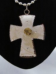 C-33 Custom Bling Necklaces - Custom Cross Necklace