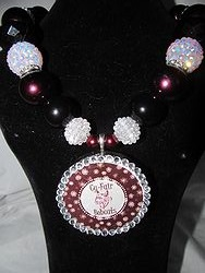 Custom Bling Necklaces - Cy-Fair Bobcats Chunky Necklace