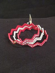 Chevron Bracelet -Red/White