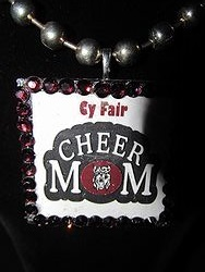 Custom Bling Necklaces - Cy-Fair Cheer Mom