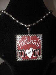 Custom Bling Necklaces - Cy-Fair Football  Mom