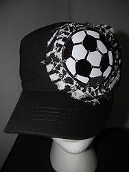 Custom Bling Hat - Black Soccer Cadet Hat With Bling
