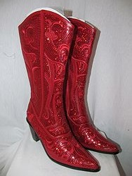 HelensHeart - Red Full Bling Boots