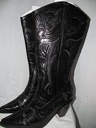 HelensHeart - Black Full Bling Boots