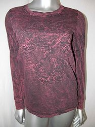 Vocal #V10236L - Long Sleeve Maroon Top
