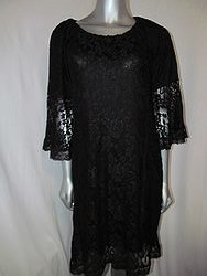 L&B 980 - Black Lace Dress