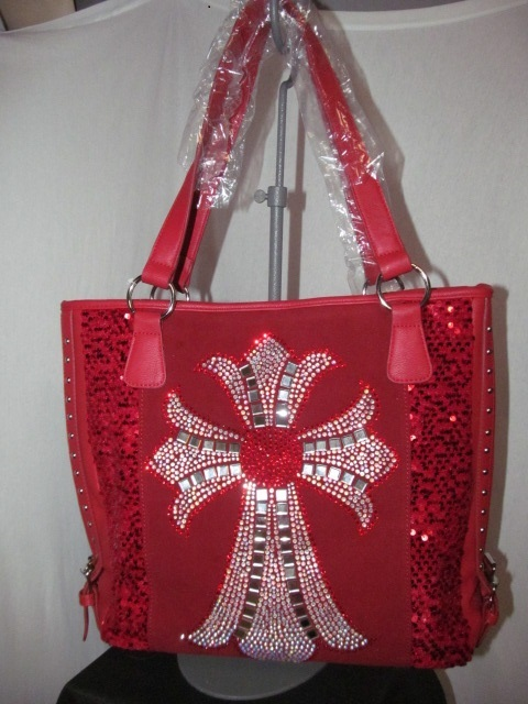 Fashion Bags - NSQ57LCR - Red Tote Bag