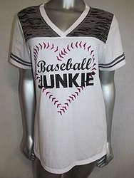 Custom Bling Shirt - Baseball Junkie Short Sleeve