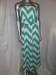 M.Ave - Mint/White Chevron Dress