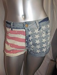 S012 - American Flag Shorts