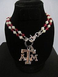 Custom Bling Necklaces - A&M Double Beaded Necklace