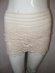 OU1346 - Cream Lace Shorts
