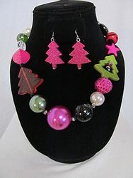 #11 Christmas Necklace W/Earrings