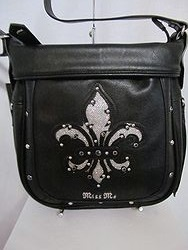 HB161CB - Miss Me Black Crossbody Purse
