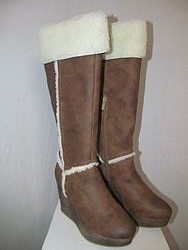Sbicca Tan Wedge Boots