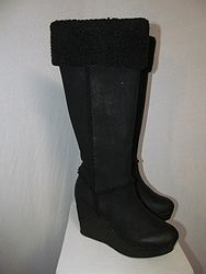Sbicca Black Wedge Boots