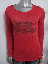 Miss Me DT495 - Long Sleeve Red Shirt