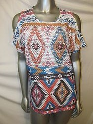 Vocal #V12636S - Tribal Print Short Sleeve Shirt