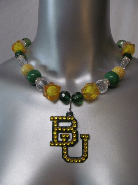 Custom Bling Necklaces - Baylor 1 - Chunky Necklace