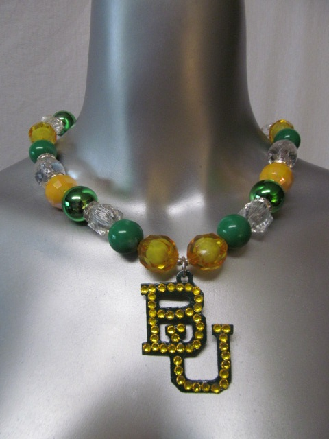 Custom Bling Necklaces - Baylor 2 - Chunky Necklace