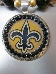 Custom Bling Necklaces - Saints Round - Chunky Necklace