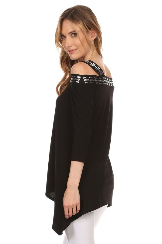 T-945S - 3/4 Sleeve Top